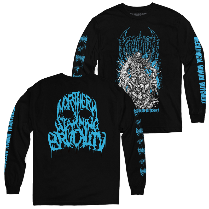 "Buy Now – Kraanium ""Mechanical"" Long Sleeve – Massacre Merch"