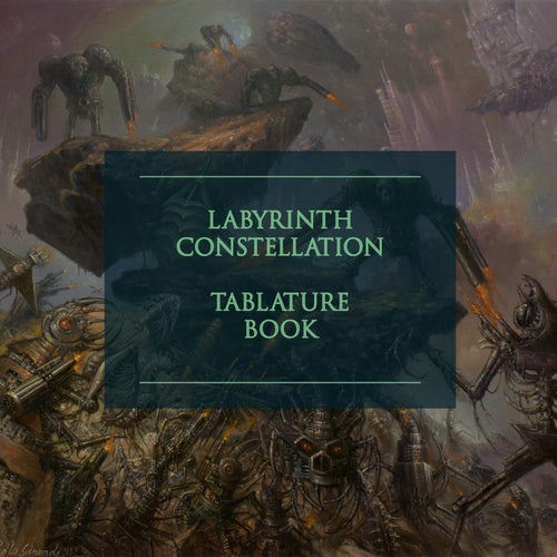 "Buy – Artificial Brain ""Labyrinth Constellation"" Digital Tab Book – Band & Music Merch – Massacre Merch"
