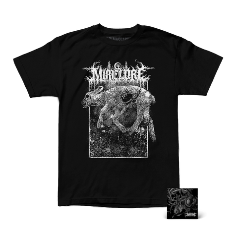 "Mire Lore ""Carcass Shirt & Marrow Leach CD"" Bundle"