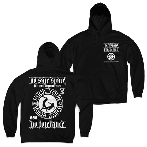 "Neckbeard Deathcamp ""No Tolerance"" Zip-Up Hoodie"