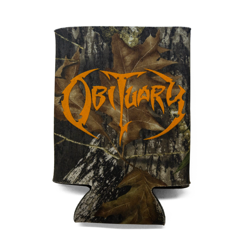 "Buy Now – Obituary ""Logo"" Camo Koozie – Massacre Merch"