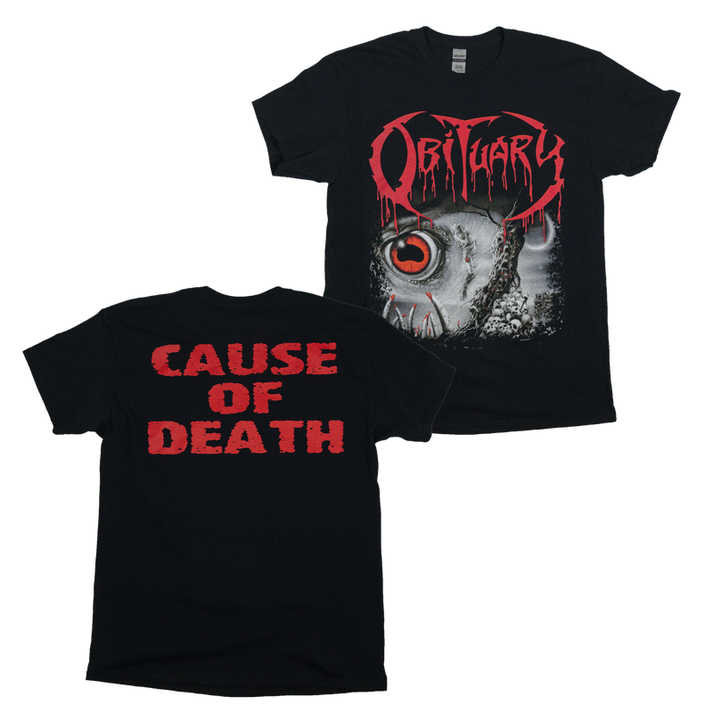 "Buy Now – Obituary ""Cause of Death"" Shirt – Massacre Merch"