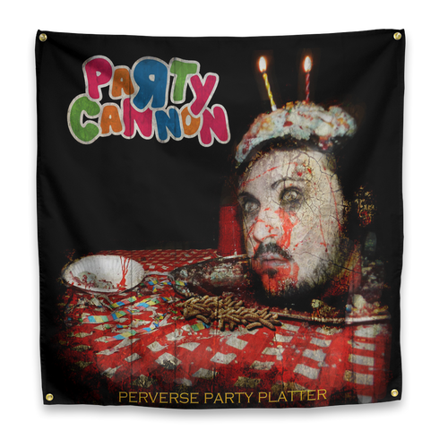 "Party Cannon ""Perverse Party Platters"" Flag"