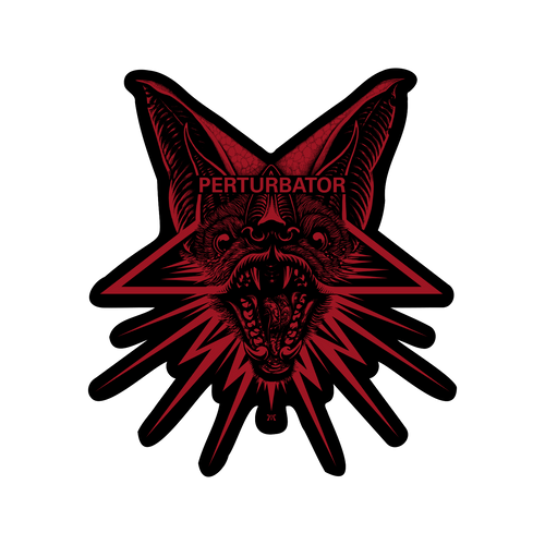 "Perturbator ""Bat Face"" Sticker"