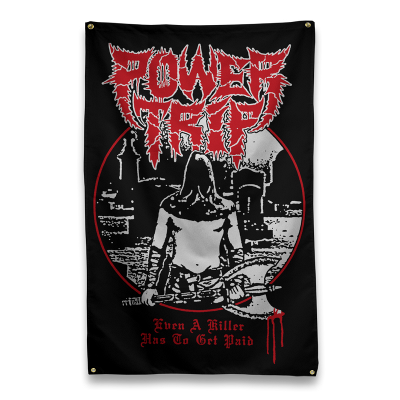 "Buy – Power Trip ""Even A Killer"" Flag – Band & Music Merch – Massacre Merch"