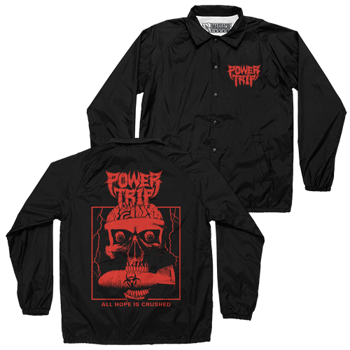 "Buy – Power Trip ""Hope Is Crushed"" Coaches Jacket – Band & Music Merch – Massacre Merch"