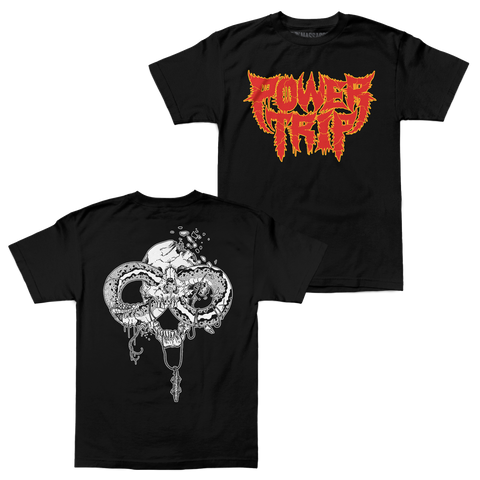 "Power Trip ""Spikey Snake"" Black Shirt"
