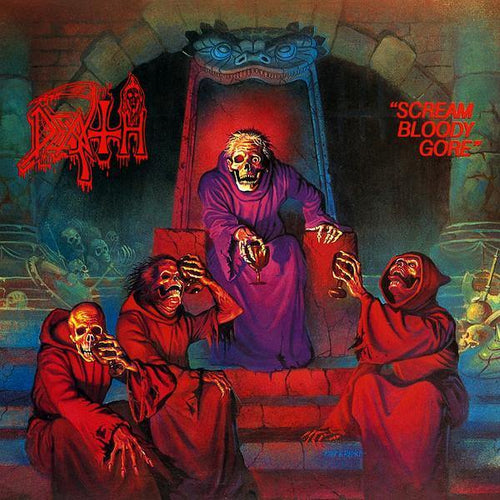 "Buy – Death ""Scream Bloody Gore"" 12"" – Band & Music Merch – Massacre Merch"