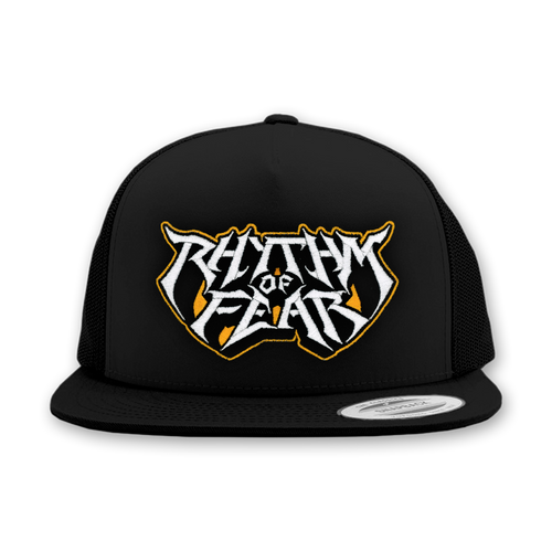 "Buy – Rhythm Of Fear ""Angled Logo"" Trucker Hat – Band & Music Merch – Massacre Merch"
