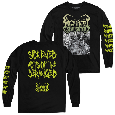 "Sacrificial Slaughter ""Sickened Acts"" Long Sleeve"