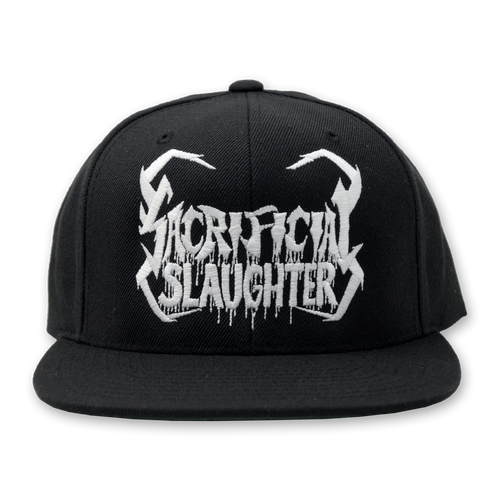 "Buy – Sacrificial Slaughter ""Skull Logo"" Snapback – Band & Music Merch – Massacre Merch"