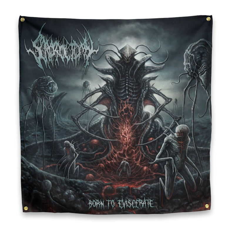 "Buy – Scrotoctomy ""Born To Eviscerate"" Flag – Band & Music Merch – Massacre Merch"