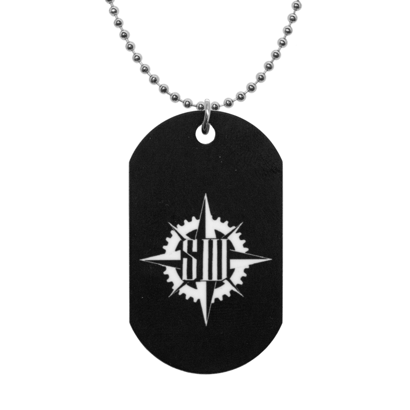 "Buy – Stabbing Westward ""Compass Logo"" Dog Tags – Band & Music Merch – Massacre Merch"