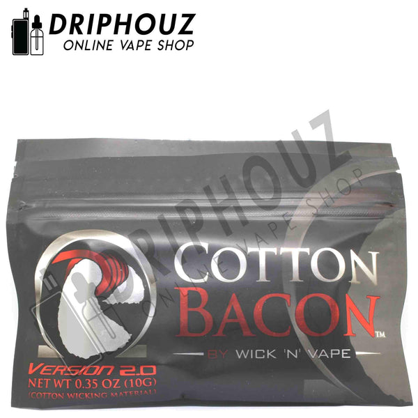 Authentic Wick 'N' Vape Organic Cotton Bacon V2 (10 PIECES) - Driphouz.com l No.1 Online Malaysia Vape Store