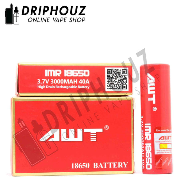 Authentic AWT 18650 Li-ion Battery 3000mAh 3.7V 35A - Driphouz.com l No.1 Online Malaysia Vape Store