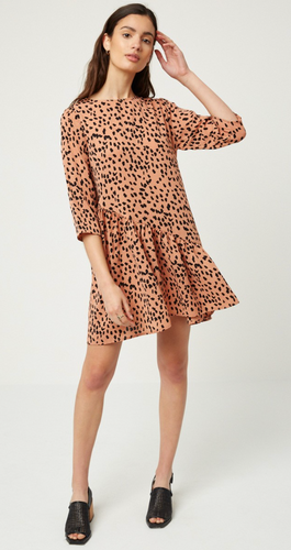 Salmon Dot Dress