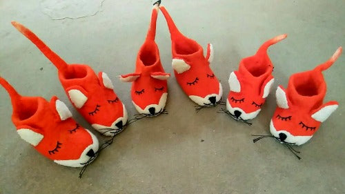 foxy kids slippers