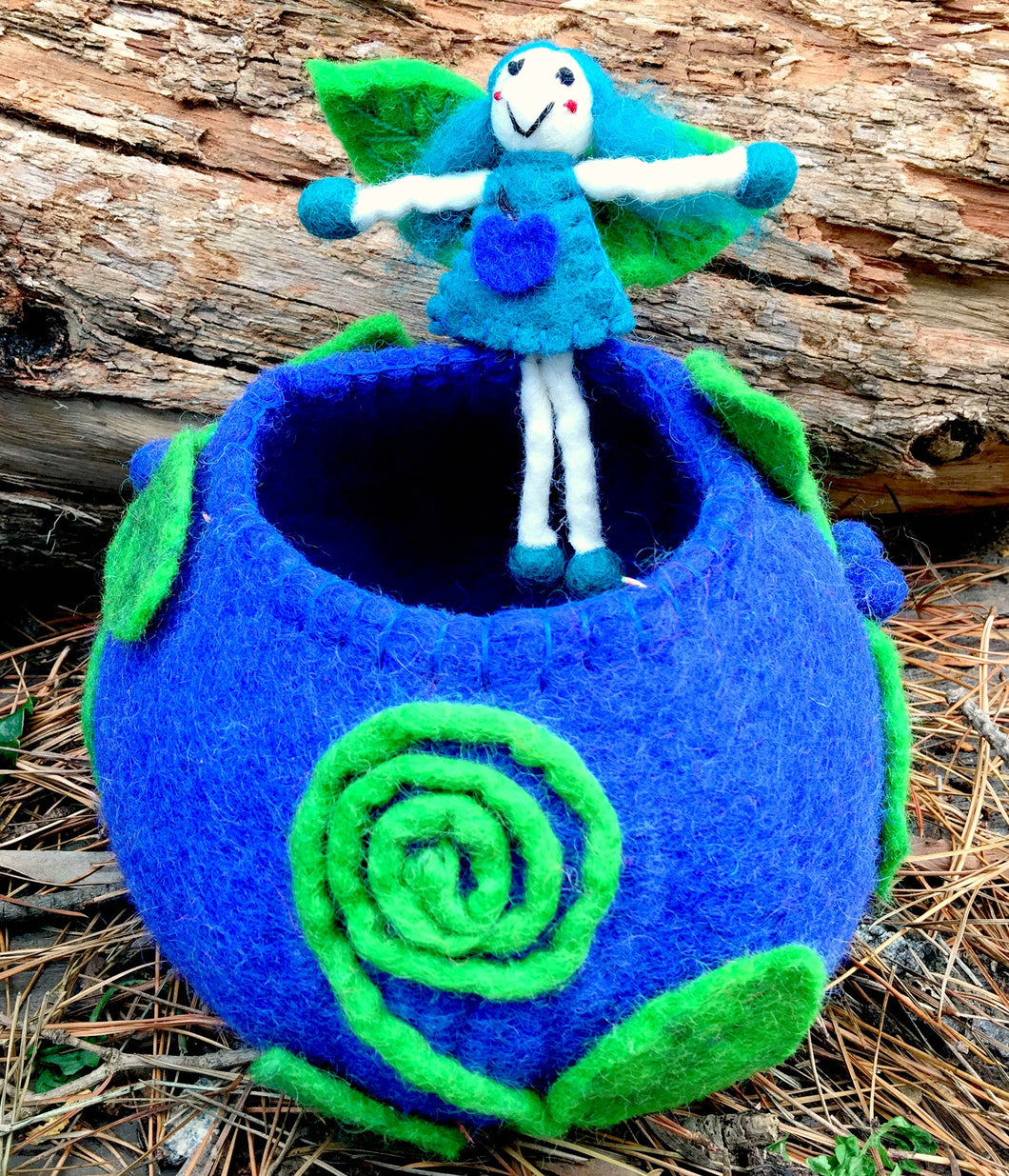 Miss Blueberry faery wishing bowl