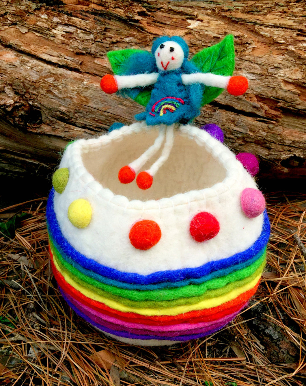 Miss Rainbow faery wishing bowl