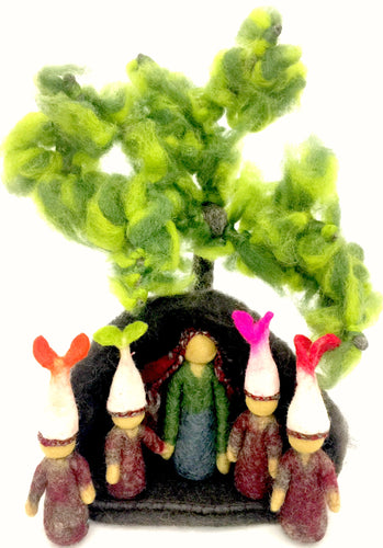 Mother Earth and the root children.