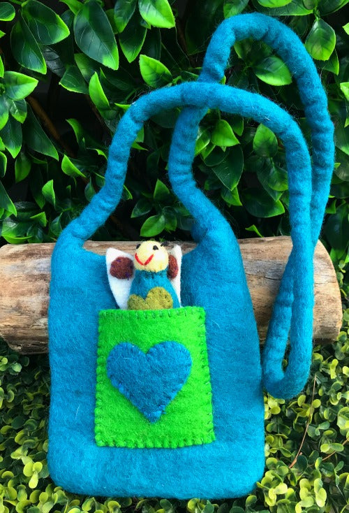 Finger puppet bag blue