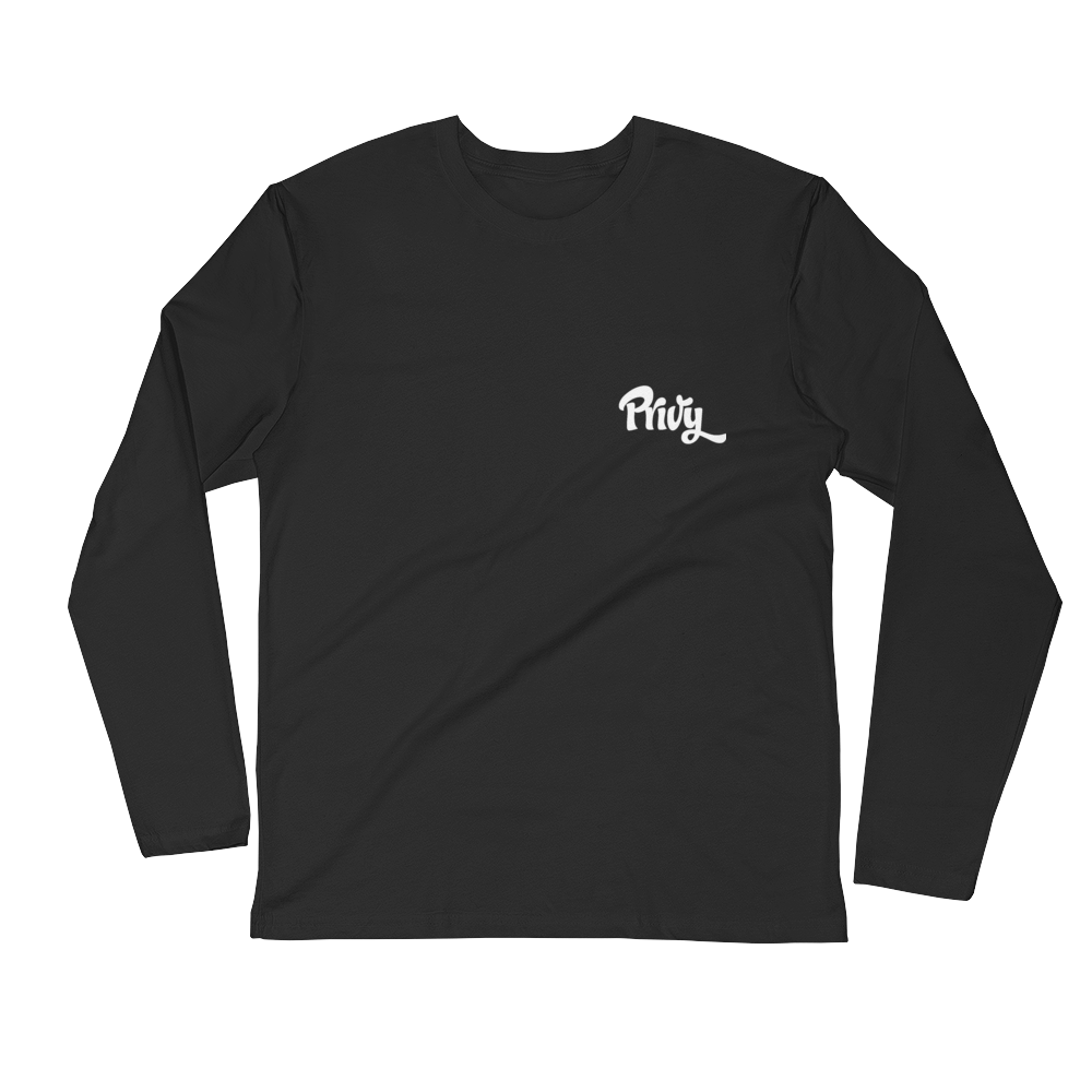 Long Sleeve Fitted Crew with logo