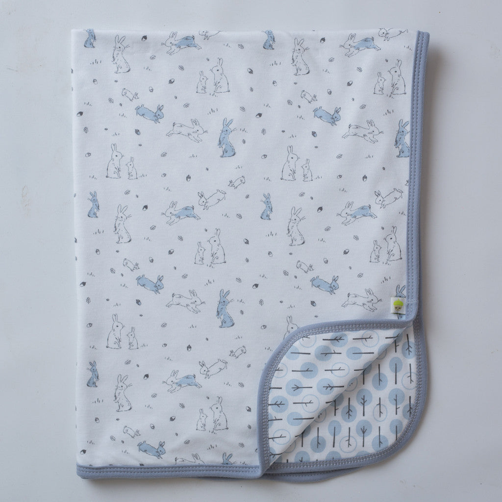 Sketched Bunnies Swaddle Blanket - Little Branches Boutique