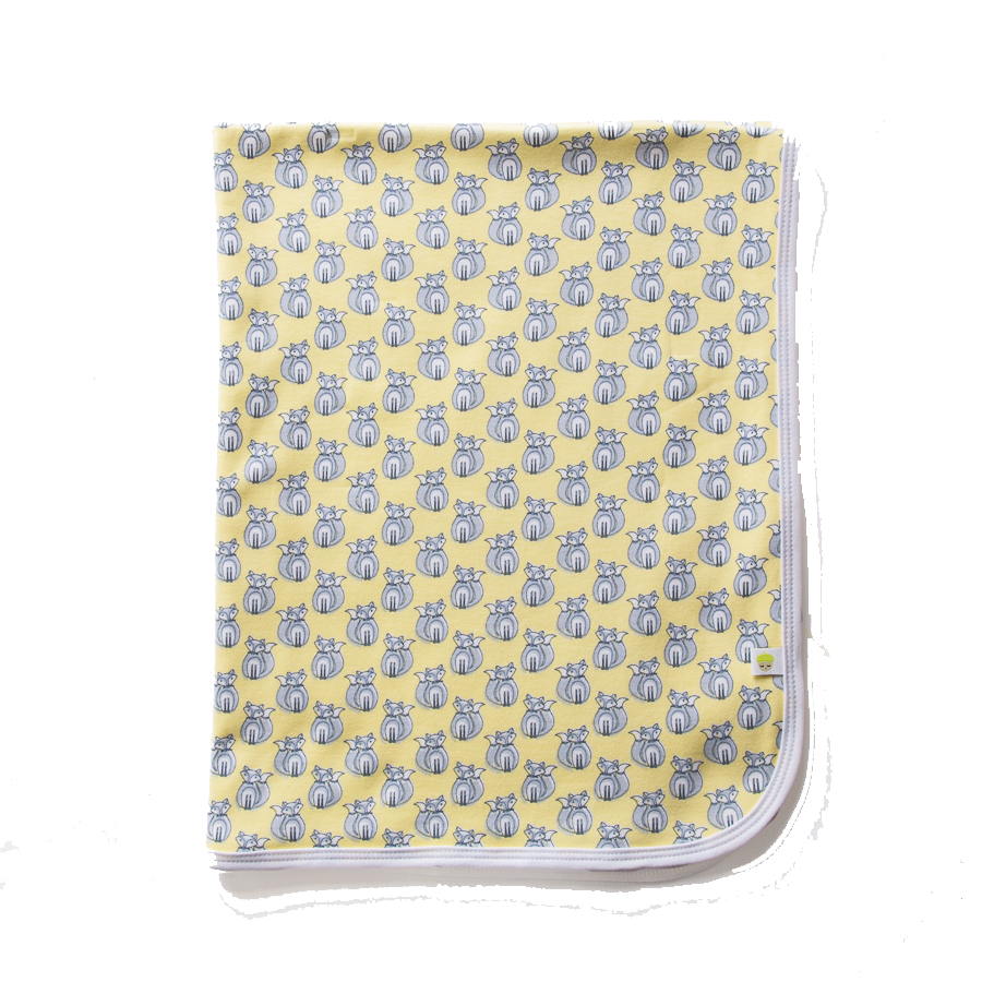 Yellow Fox Swaddle Blanket - Little Branches Boutique