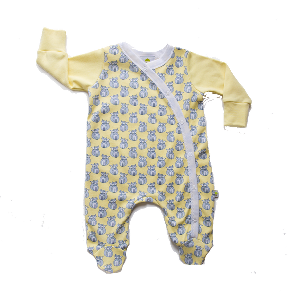 Yellow Fox Onesie - Little Branches Boutique