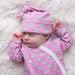 Pink Fox Onesie - Little Branches Boutique
