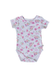 Pippa The Flamingo Short Sleeve Onesie - Little Branches Boutique