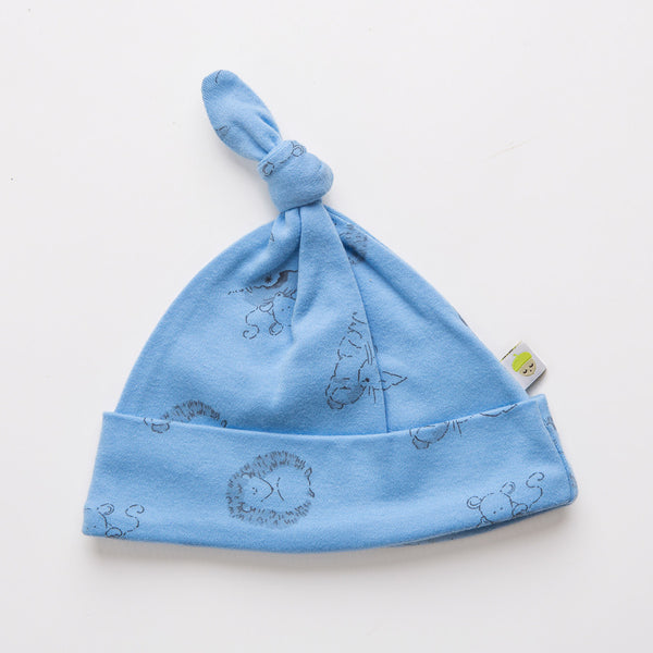 Blue Woodland Knot Hat - Little Branches Boutique