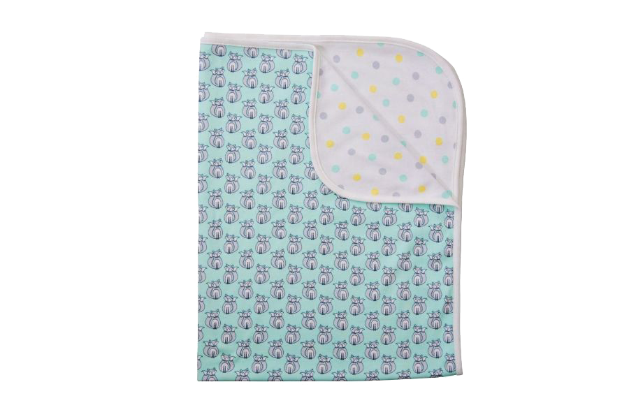 Aqua Fox Swaddle Blanket - Little Branches Boutique