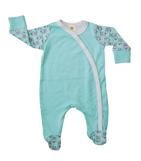 Aqua Fox Onesie - Little Branches Boutique