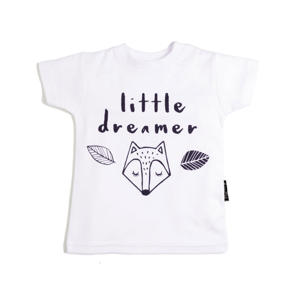 Little Dreamer Organic Cotton Tee White - Little Branches Boutique