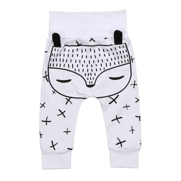 White Sleeping Fox Bottom Leggings - Little Branches Boutique