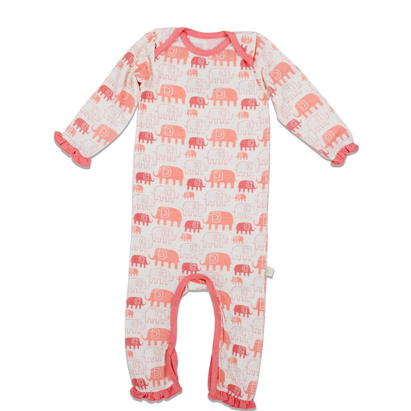 Pink Elephant Bodysuit - Little Branches Boutique
