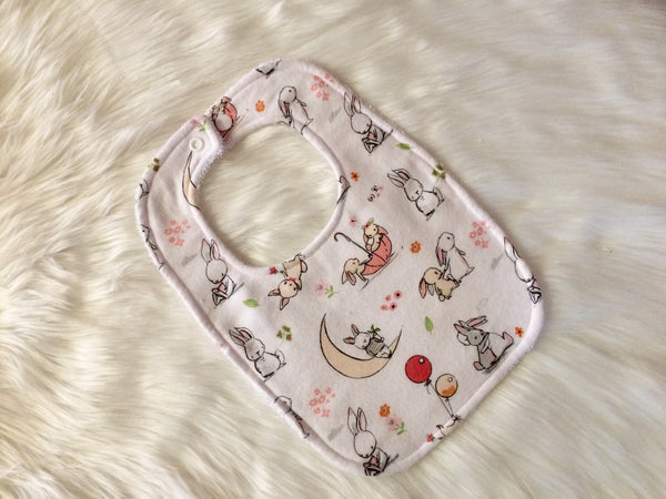 Bunny Frolics Baby Bib - Little Branches Boutique