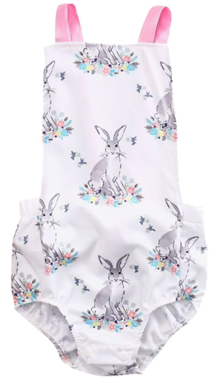 White Bunny Romper - Little Branches Boutique