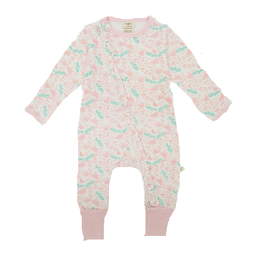 Butterfly Garden Zip Onesie - Little Branches Boutique
