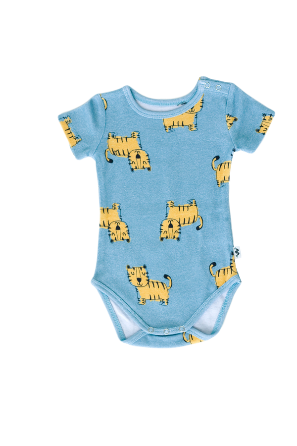 Tiger Vibes Short Sleeve Onesie - Little Branches Boutique