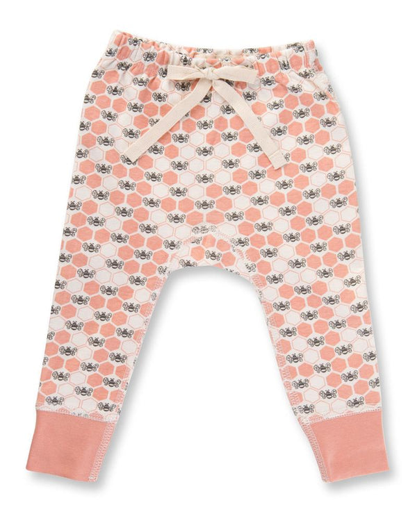 Peach Blossom Bees Pants - Little Branches Boutique