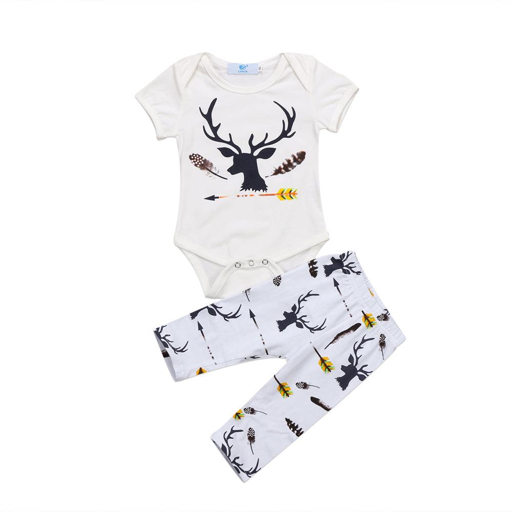 Deer Bodysuit and Leggings Set - Little Branches Boutique