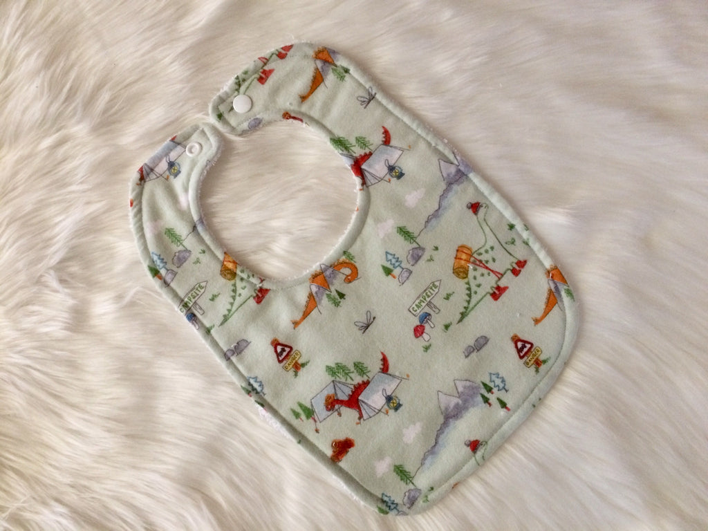 Dino Camper Baby Bib - Little Branches Boutique