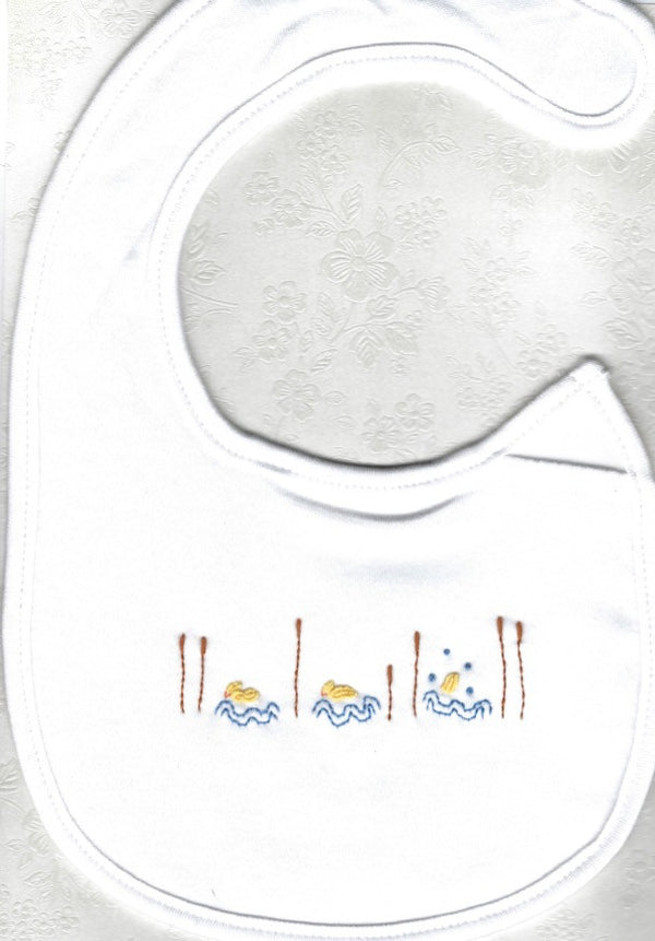 Hand Embroidered Duck Bib - Little Branches Boutique