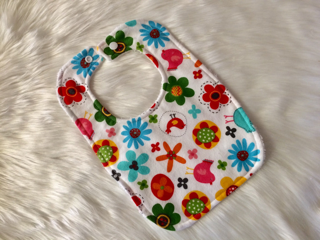 Floral Baby Bib - Little Branches Boutique
