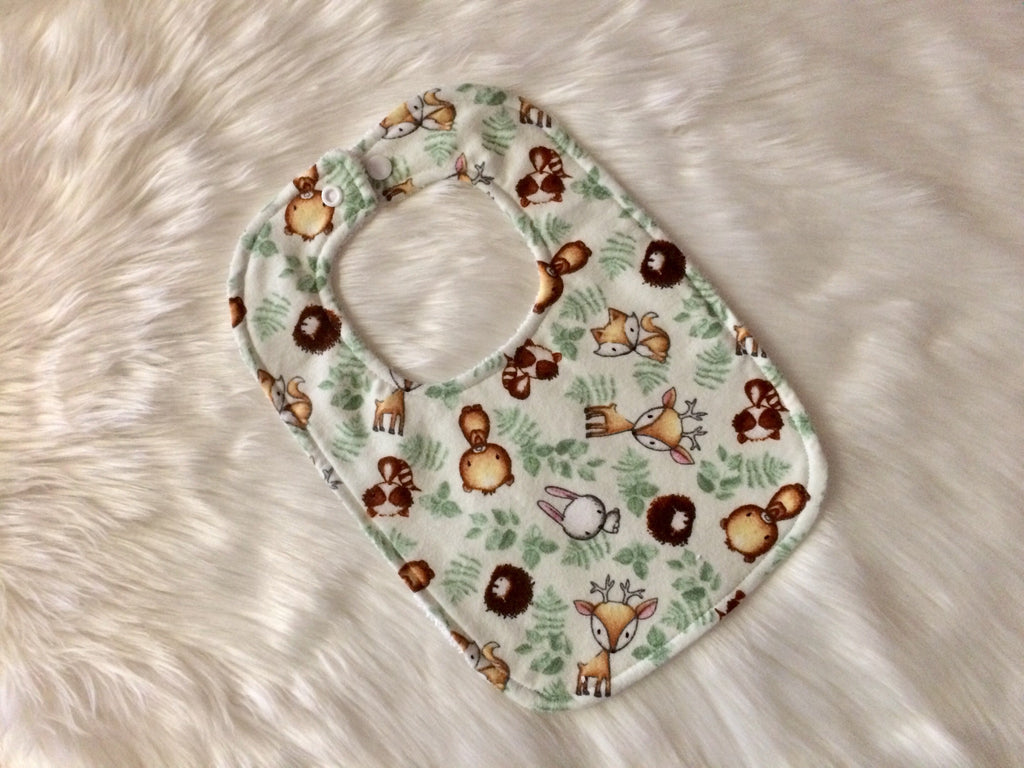 Woodland Critters Baby Bib - Little Branches Boutique