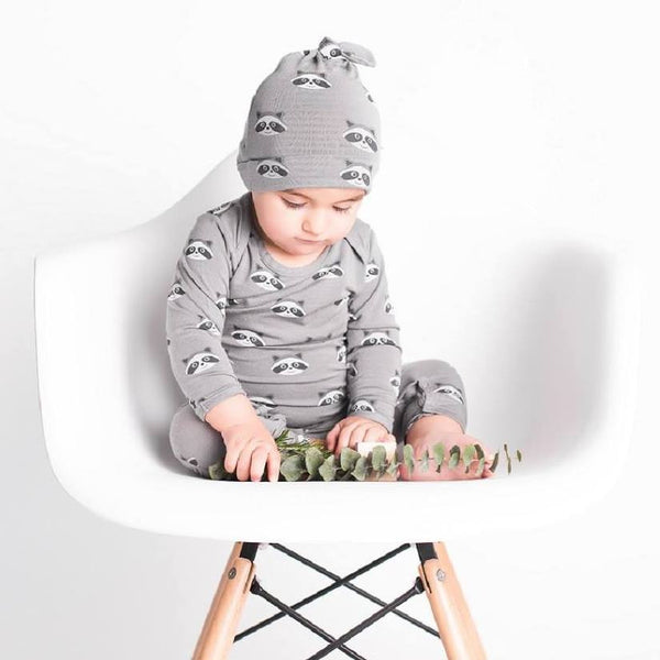 Grey Raccoons Bodysuit - Little Branches Boutique