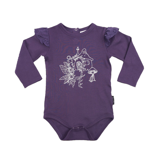 Garden Fairy Print Long Sleeved Onesie - Little Branches Boutique