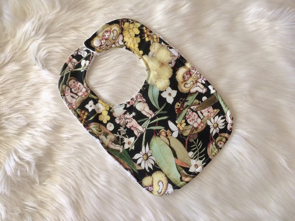 Sage Gossip Blossoms Baby Bib - Little Branches Boutique